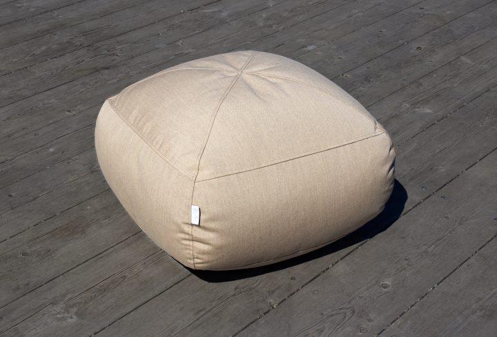 Syli säänkestävä rahi beige outdoor footstool